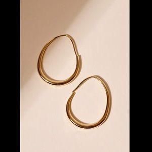 "✨NWT✨Lulu's 14K Gold ""She Went There"" Hoops"